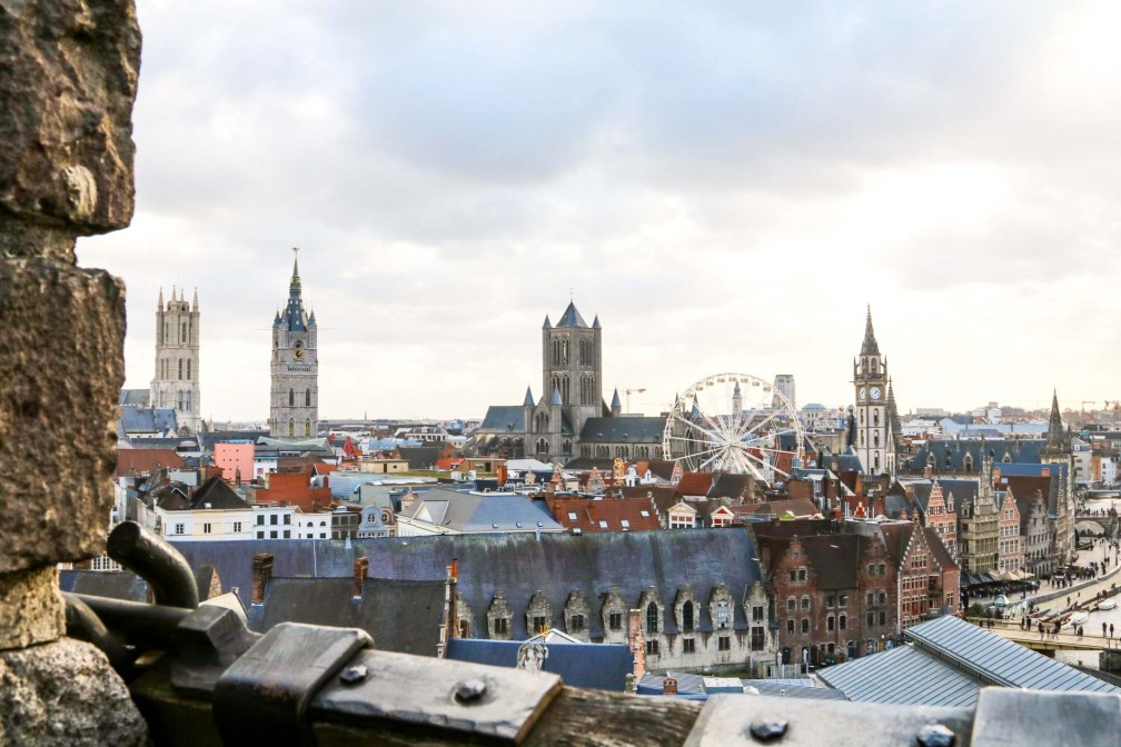 Gravensteen vue panoramique ville