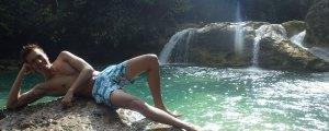 Jumping into Bao-Bao Falls in Lianga, Surigao del Sur