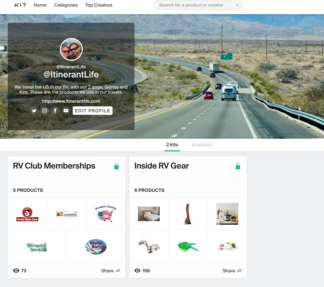 Shopping site - Kit.com
