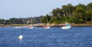 Boats and Cabot Family Dock in Cabot Cove