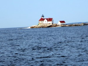 Cuckold's Lighthouse - Exiting Boothbay