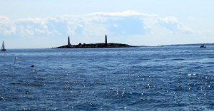 Twin Lighthouses on Cape Ann