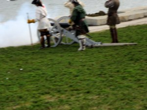 Cannon Fire - Would Have Been A better Picture if Adrienne Hadn't Jumped