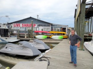 Jim Surveying the Well-appointed Marina