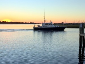 Cape Fear Pilot Boat at Sunset