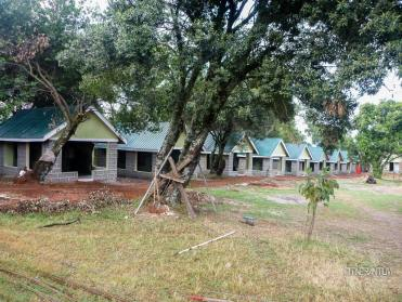 New hut being added to Rhino Camp in Masai Mara