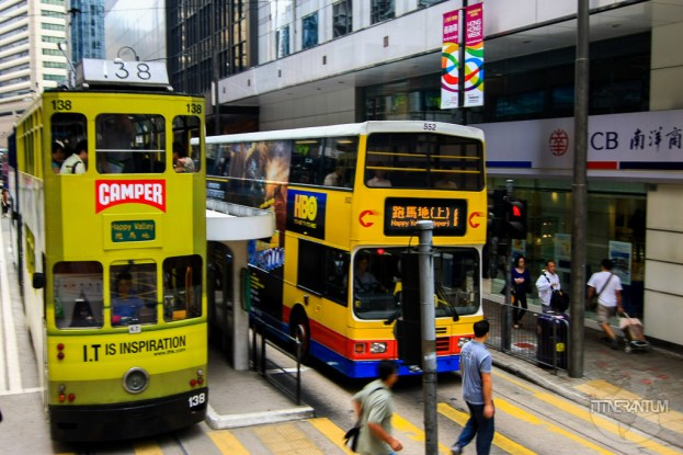 double decker buses in Hong Kong