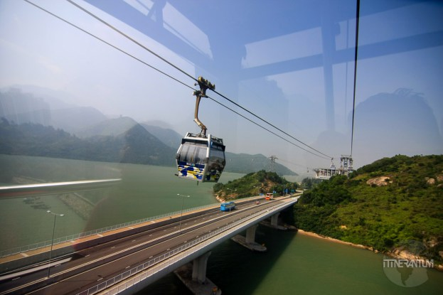 Cable car to Lantau Island