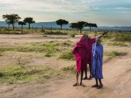 Masai men close to our camp
