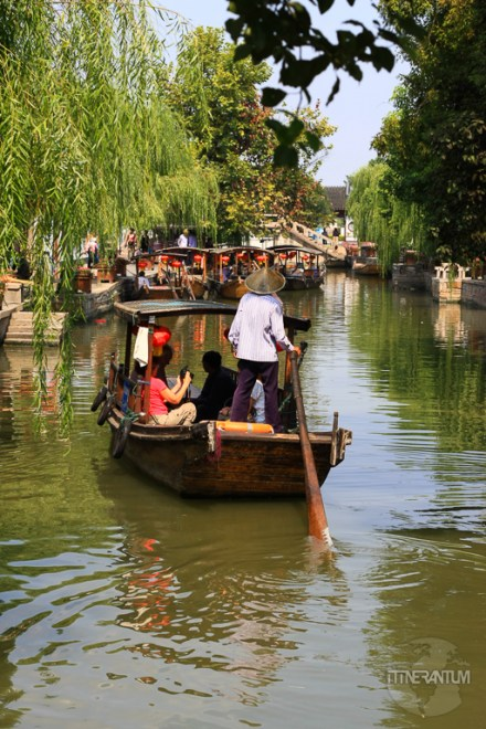 Boat ride on the cannals in Zujiajiao