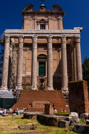 Temple of Antonino and Fasitina Anthony the Great in the Forum