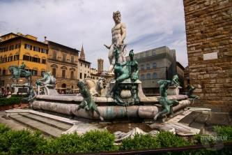 Neptune Fountain in Piazza Della Signora