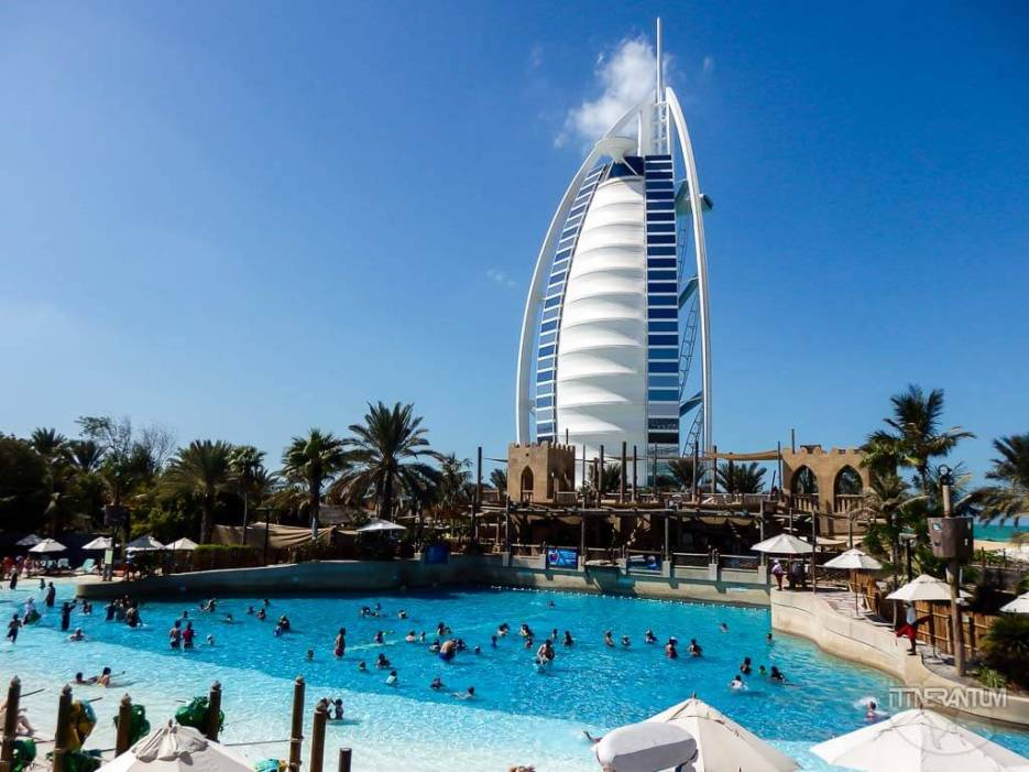 View of Burj al Arab from Wild Wadi