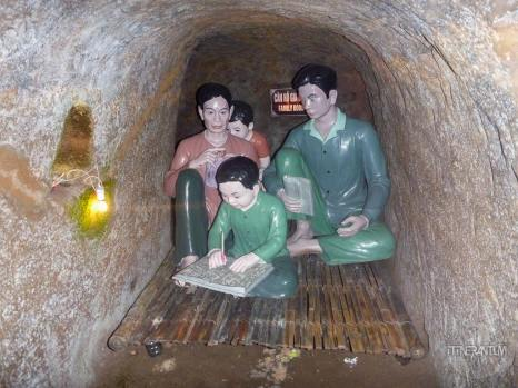 The room for one family. vinh moc tunnels