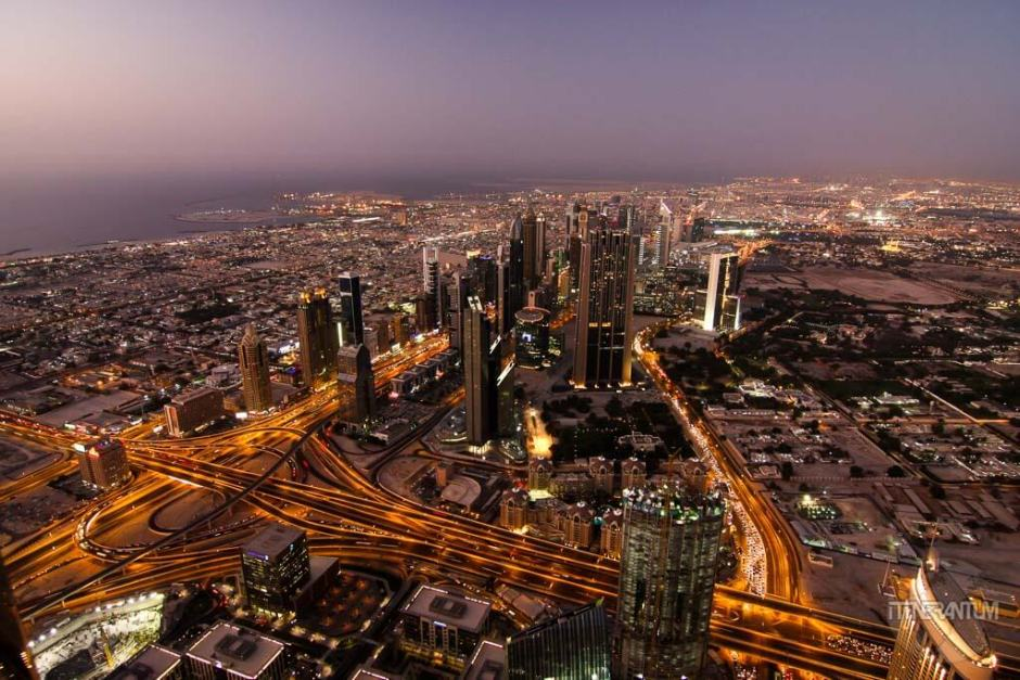 nihjt view from the top of burj khalifa