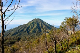 view of a mountain on the way back from ijen, java