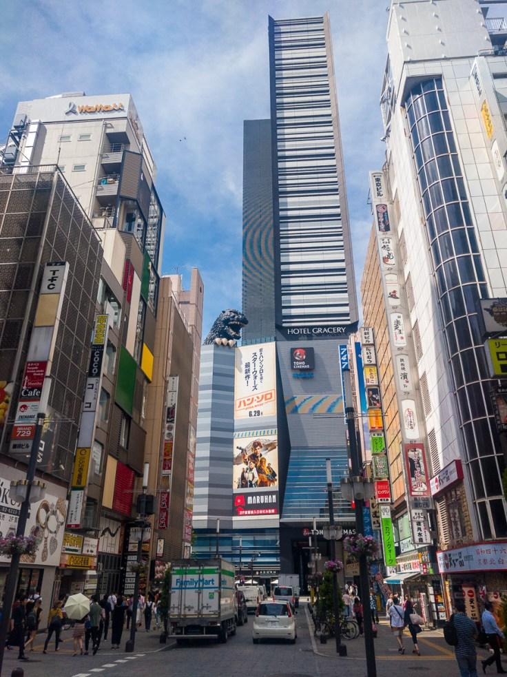 Strassenszene in Shinjuku