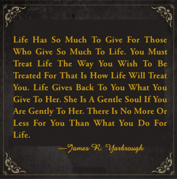 What You Give to Life is What You Get 3-22-15