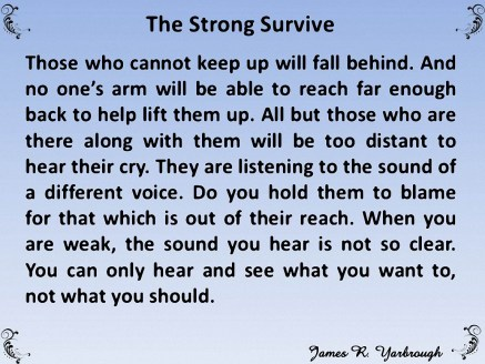 You Must Be Strong 3-12-16