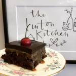 Salted caramel brownie at The Linton Kitchen