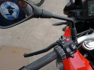 BMW F850GS handlebar controls