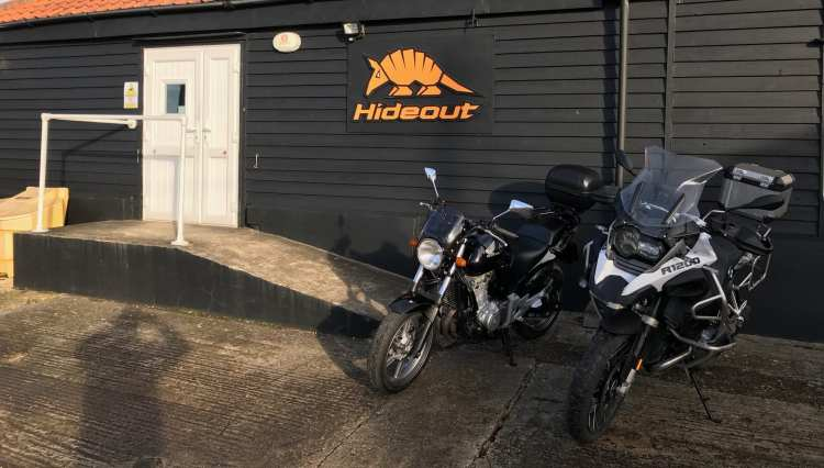 Hideout Leathers shop front