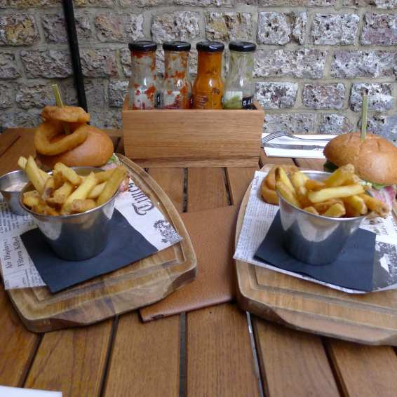 Bike Shed burgers and chips