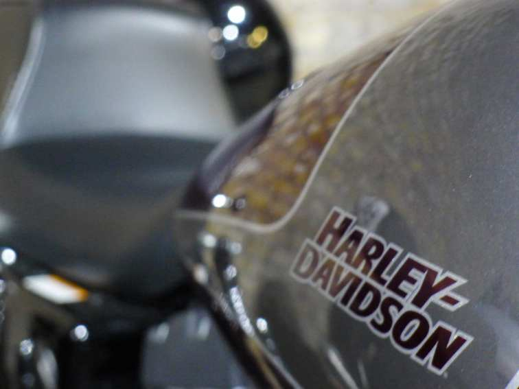 Harley Davidson in Bike Shed motorcycle parking