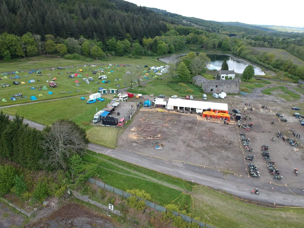 Touratech event from the air