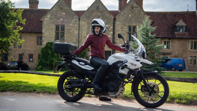 Natalia and her trusty BMW F700GS