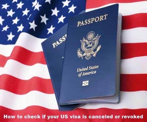 check if your US visa is canceled