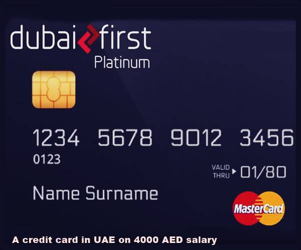 credit card in UAE on 4000 AED salary