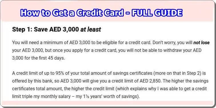 Get a Credit Card In Dubai