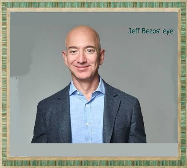 What is wrong with Jeff Bezos' eye