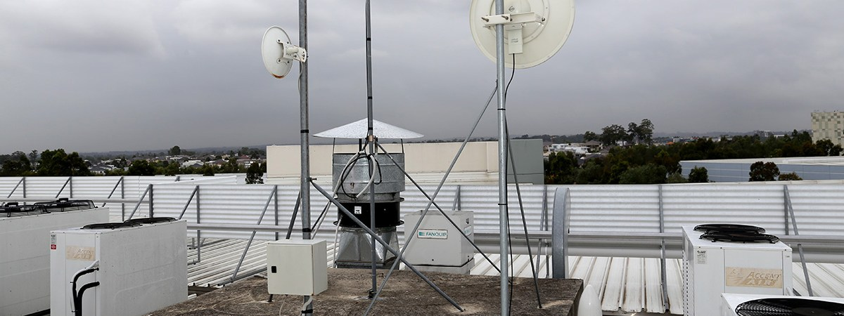Antennas installed on roof