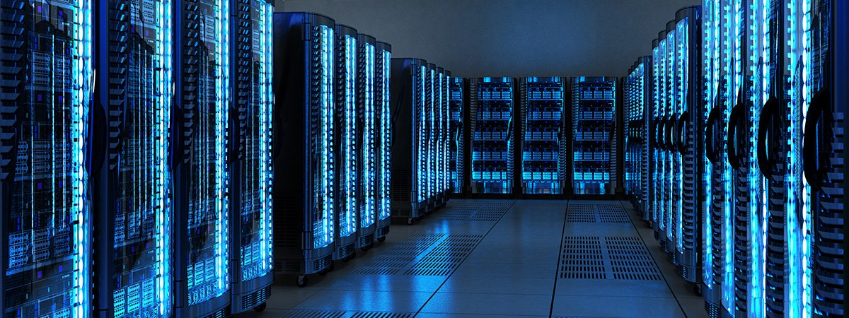 Server racks in data center