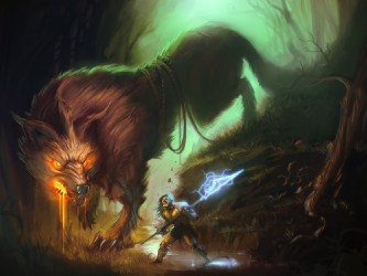 Creature Wallpaper And Background Image Mythical Fantasy Beast Art #1390588 HD Wallpaper & Backgrounds Download