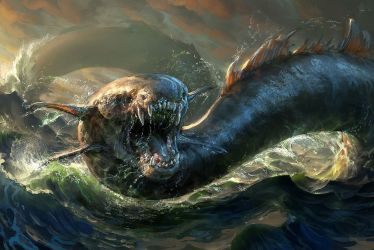 Creature Wallpaper Mythological Creatures Mythical Leviathan Bible #1391053 HD Wallpaper & Backgrounds Download