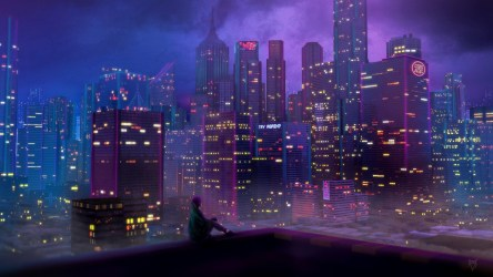 Night City Anime Background #2517180 HD Wallpaper & Backgrounds Download