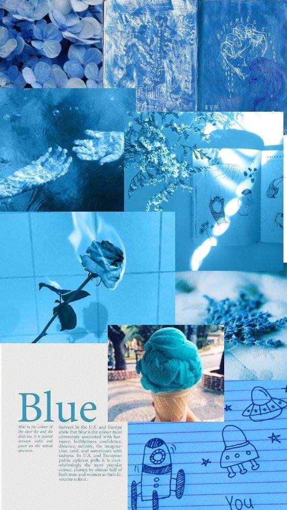 Blue Aesthetic Collage Wallpaper : aesthetic, collage, wallpaper, Wallpaper, #aesthetic, #collage, #freetouse, Light, Aesthetic, Lockscreen, (#2974858), Backgrounds, Download