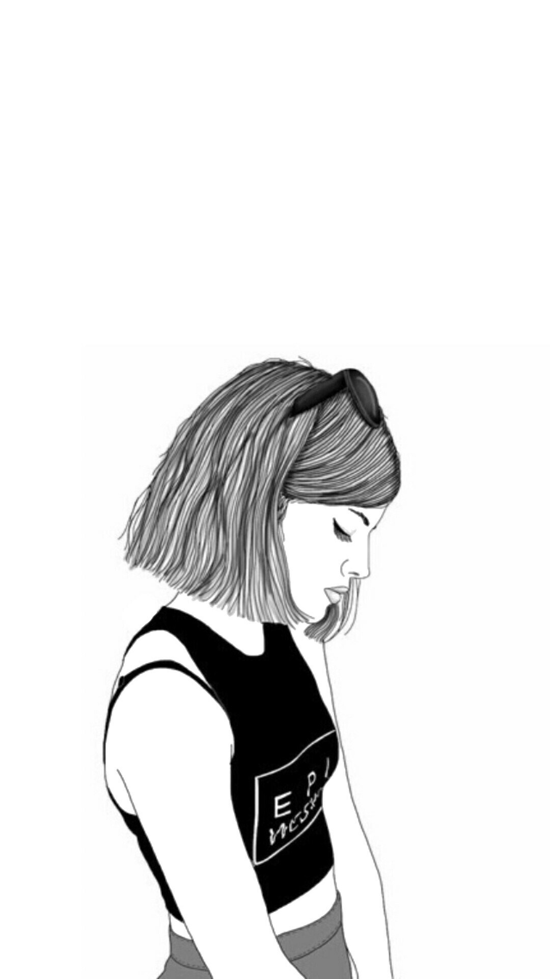Drawings Of Girls With Short Hair : drawings, girls, short, Wallpaper, Drawing, Short, (#623468), Backgrounds, Download