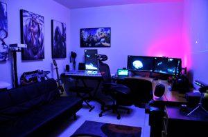studio setup recording gaming setups awesome itl cool backgrounds rooms lighting musician workstation imgur desk