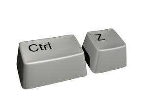 A CTRL + Z visszavonása