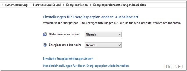 Energiesparplan-Monitor-Problem