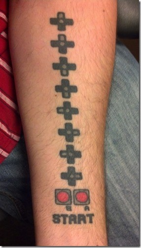 Konami-Code-Tattoo