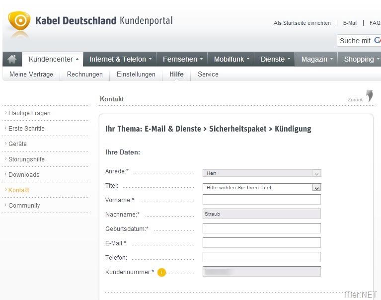 kabel deutschland sicherheitspaket
