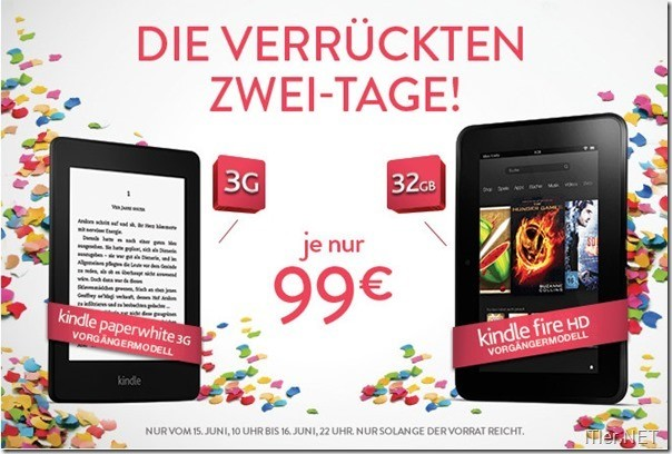 Photo of Amazon Angebot – Paperwhite 3G und Kindle Fire HD 32 für 99 Euro