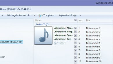 Photo of Audio CD mit Hilfe des Windows Media Player zu einem MP3 Files umwandeln