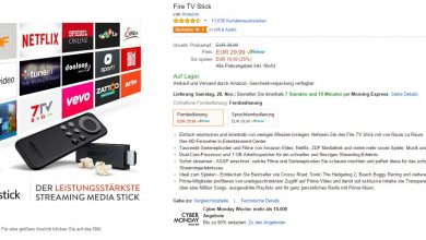 Photo of Amazon Fire TV Stick – bis zu 25 Prozent günstiger