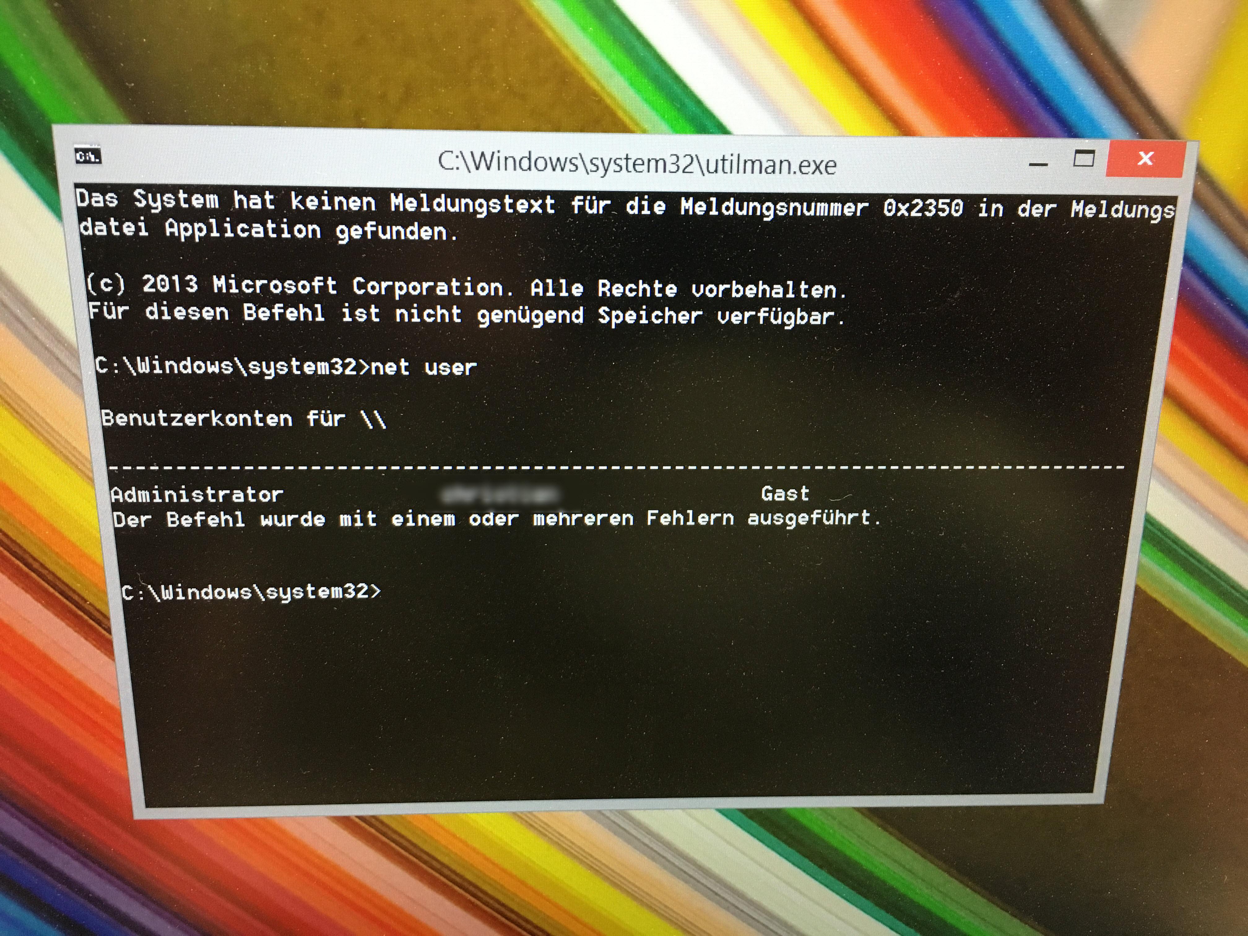 Windows 10 Passwort Knacken